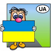 'Paley' Showing The Flag Of Ukraine
