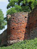 Town Wall In Tangermuende In Germany