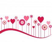 Cute vector valentine background
