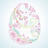 picture of easter eggs bunny  - stylized easter egg - JPG