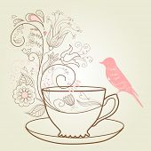 stock photo of crockery  - afternoon tea concept - JPG