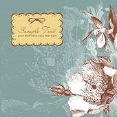 Fondo de flores vintage