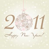 2011 Happy New Year background.