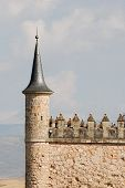 Detail Of Alcazar Of Segovia, Spain
