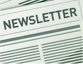 Newsletter illustration design paper