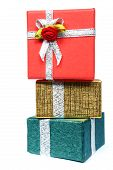 picture of christmas-present  - stack of wrapped presents - JPG