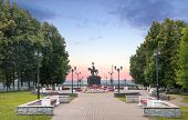 Постер, плакат: Monument To Prince Vladimir And Saint Fedor In The Park Named After A Pushkin Vladimir Russia