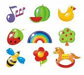 Set van kind foto's voor een kleuterschool