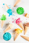 Colorful Melting Ice Cream poster