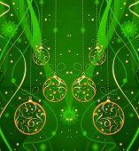 Green Holiday Festive Pattern