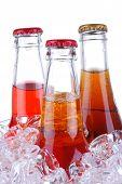 Soda Bottles In Ice Bucket