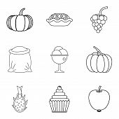 Veganism Icons Set. Simple Set Of 9 Veganism Vector Icons For Web Isolated On White Background poster