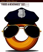 Food Beverage #0011 - Police Donut.eps