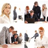 stock photo of real-estate-team  - Business team work in the office - JPG