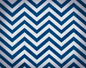 Cobalt Blue and White Grunge Textured Chevron Background