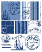 Fabulous vintage style nautical themed repeat patterns and icons.  Use to create fabric projects or fun items for a beach picnic.