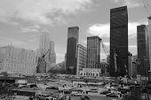 The World Trade Center under construction