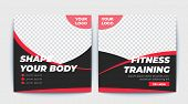 Fitness Social Media Post Template,fitness Banner For Social Media Template poster
