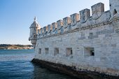 Belem Tower Or The Tower Of St Vincent Is A Fortified Tower Located In Lisbon, Portugal. poster