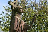 Saint Cuthbert statue.