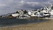 Mykonos City Beach In Spring
