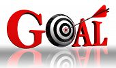 Goal Red Word And Conceptual Target