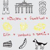 German symbol icons seamless pattern