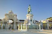 praca do comercio square in  lisbon portugal