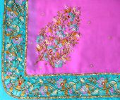 Beautiful Embroidery On Chiffon Sari