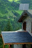 Photovoltaic Panels In The Mountains