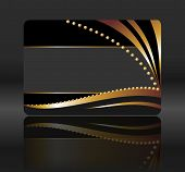 black gift card with golden waves