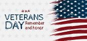 Creative Illustration,poster Or Banner Of Happy Veterans Day With U.s.a Flag Background. Handrawing  poster