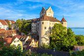 Meersburg Castle At Lake Constance Or Bodensee, Germany. This Medieval Castle Is Landmark Of Meersbu poster