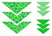 Downloads Mosaic Of Rough Pieces In Variable Sizes And Color Tints, Based On Downloads Icon. Vector  poster