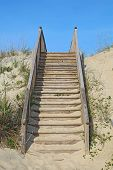 Stairway To A Public Beach Access Vertical