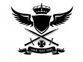 Heraldic emblem vector