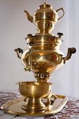 Traditional russian old samovar