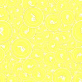 Indian Rupee Gold Coins Seamless Pattern. Emotional Scattered Yellow Inr Coins. Success Concept. Ind poster