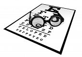 Big Round Glasses On Eye Chart