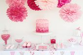 stock photo of dessert plate  - Dessert table - JPG