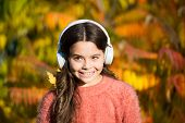 Music For Autumn Mood. Listening Song. Enjoy Music Fall Day. Autumn Walks With Nice Songs. Education poster