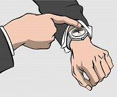 Hands And Wristwatch