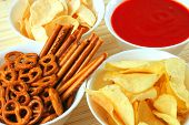 Snacks And Salsa Dip Sauce poster