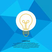 Bulb Light Idea. Concept Of Big Ideas, Inspiration, Innovation, Invention, Effective Thinking With T poster