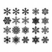 Snowflake Icon Vector, Snowflake Icon Eps, Snowflake Icon, Snowflake Icon Picture, Snowflake Icon Fl poster
