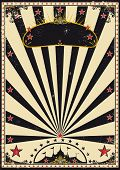 Dark circus. A retro circus poster for your advertising.