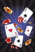 stock photo of ace spades  - casino by night - JPG