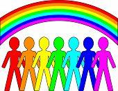Rainbow People - Vector Concept
