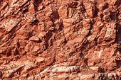 Red Rock Layers, Geological Rock Layers Background  poster