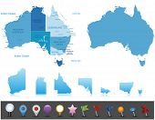 Australia - highly detailed map.All elements are separated in editable layers clearly labeled. Vector